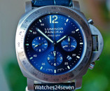 Panerai PAM 326 Luminor Daylight Chronograph Blue Sunburst Dial Titanium 44mm