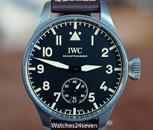 IWC Big Pilot Heritage Men's Titanium Black Dial Manual-Wind 48mm, REF. IW5103-01