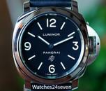 Panerai PAM 1000 Luminor Base Black Logo Dial Acciaio 44mm