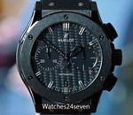 Hublot Classic Fusion Chronograph Carbon Fiber Dial & Ceramic Case 45mm