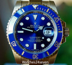 Rolex Submariner 18k All Yellow Gold Blue Dial & Ceramic Bezel Ref. 116618LB