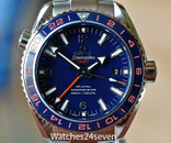 Omega Seamaster Planet Ocean GMT Blue & Orange 44mm