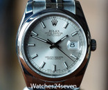 ROLEX Datejust 36 Automatic Silver Dial Stainless Steel Jubilee Bracelet