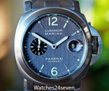 Panerai PAM 91 Luminor Marina Automatic Grey Dial, Bracelet, Titanium 44mm