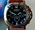 Panerai PAM 74 Luminor Marina Chronograph El Primero Movement 40mm