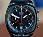 TAG Heuer  Monza Heritage Chronograph Calibre 17  Titanium Black Carbide LTD