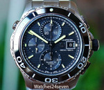 Tag Heuer Aquaracer Chronograph Automatic 500 Meter Dive Watch 43mm
