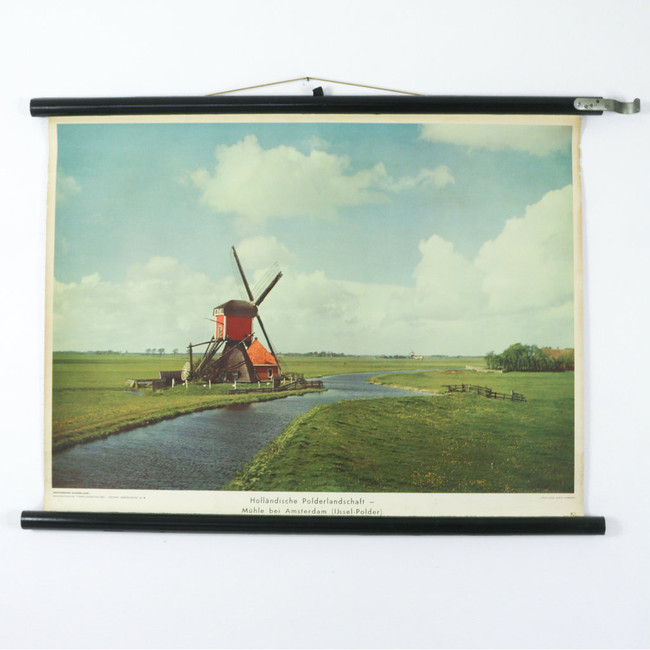 Vintage Photography Chart, Windmill The Netherlands