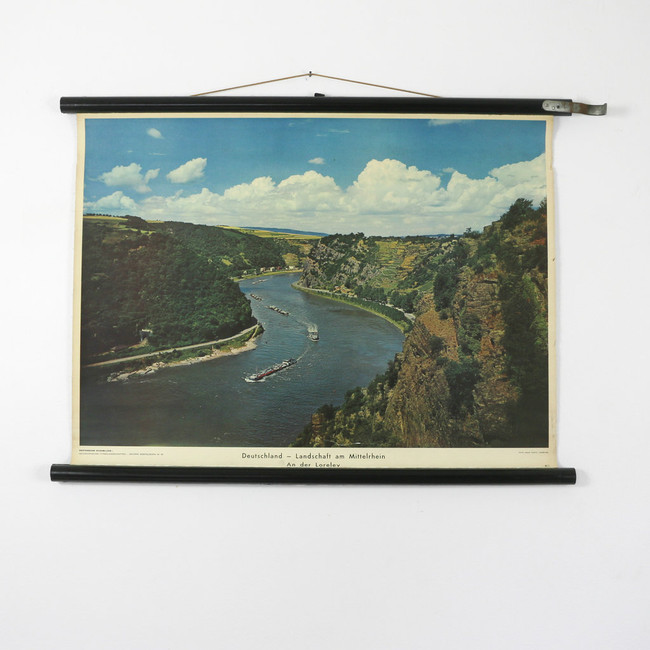 Vintage Photography Chart, River Rhine