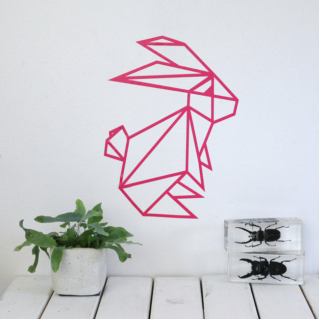 Origami Bunny Wall Sticker