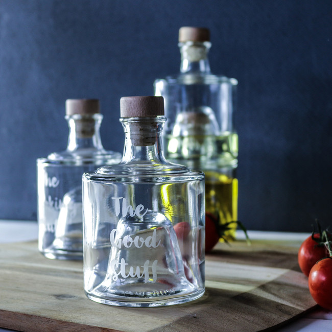 Stackable Oil bottles, Set of two