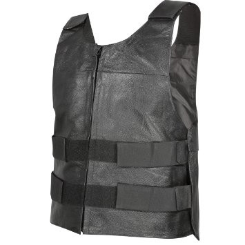 Black Leather Tactical Vest