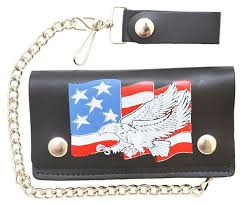 Leather Wallet with Eagle