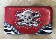 Skull Red Wallet
