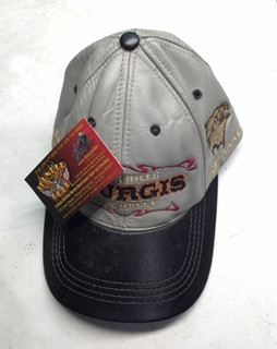 Vintage Leather Sturgis Cap