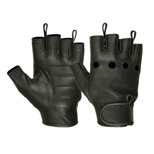 LADIES WATERPROOF DEERSKIN FINGERLESS GLOVES