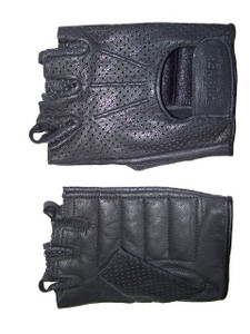 MEN'S FINGERLESS WATERPROOF GOATSKIN LEATHER, WEATHERLITE CHOPPER GLOVES