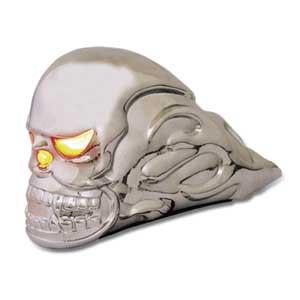 Flame Skull Lighted