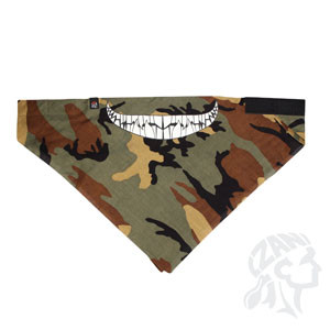 3-IN-1 Bandanna, Cotton, Glow in the Dark, Camo w/ Teeth