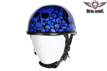 Blue Eagle Novelty Boneyard Motorcycle Helmet