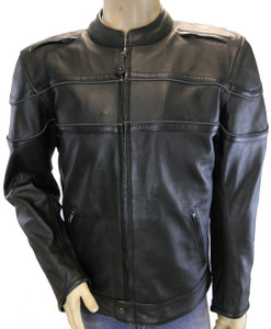 Men's Racer Jacket W/ Vents and Reflective Piping