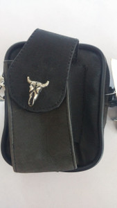 Small Belt Loop Purse with Steer Head Emblem