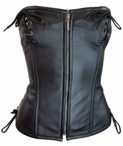 Ladies Corset Laced Top W/Hook & Eye Closure