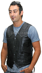 leather side vest with gun pocket