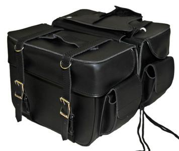 Medium 2 Strap Saddle Bag W/Pockets