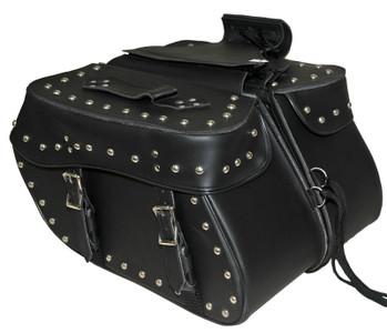 Medium 2 Strap Studded Saddle Bag W/Studs