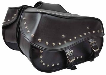 Large 2 Strap Studded Saddle Bag