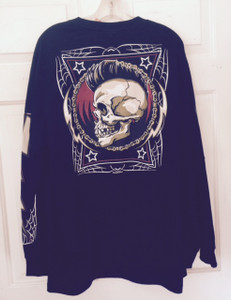 Black Long Sleeve Skull
