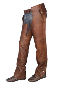 4 Pocket TG Cowhide Retro Brn Chap