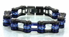 2 Tone Black/Candy Blue Bracelet