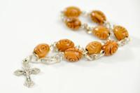 Olive Wood Silver Bracelet