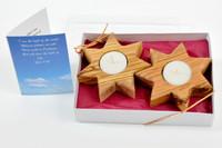 Pair of Bethlehem Stars (7 Points) Candle Holder (Gift Pack)