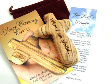 Engraved Palm Size Comfort Cross Gift Set