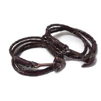 Faith Love Hope - Anchor Bracelet for Men and Women-Durable Wrist Bangle-Unisex Fashion Jewelry (Brown Vintage)