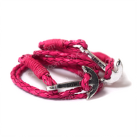 Faith Love Hope - Anchor Bracelet for Men and Women-Durable Wrist Bangle-Unisex Fashion Jewelry (Pink Chrome)