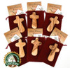 What makes My Caring Cross Olive Wood A+ Certified?   A+ Olive Wood displays the grain on both sides of the product and there are no cracks or fillers. My Caring Cross inspects all products to meet these high standards. All our Olive Wood products are imported from the Holy Land and are made from the tree trimmings. No trees are cut down.