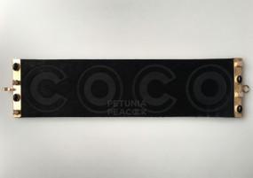 """CHANEL LEATHER & SEMI-PRECIOUS STONE """"COCO"""" BRACELET"""