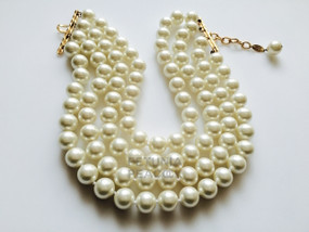 CHANEL FOUR STRAND PEARL CHOKER