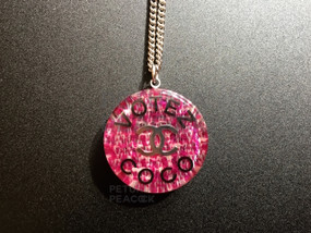 CHANEL PINK VOTEZ COCO NECKLACE