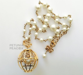 CHANEL PEARL BIRD CAGE NECKLACE