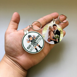 Double-Sided Photo Keychains-Circle/Oval