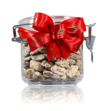 austiNuts Small Acrylic Jar with Praline Pecans is Perfect gift for teachers, doctors, lawyers, any offices, you name it!!   Contains: Praline Pecans