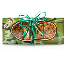 austiNuts Tasty Treat Camo Survival Kit is filled with Mesquite BBQ Pecans, Chipotle Cashews & Salted Almonds.