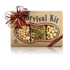 austiNuts Survival Kit - Fancy Nuts   Contains: Salted Cashews, Salted Macadamia Nuts & Salted Pistachio Kernels