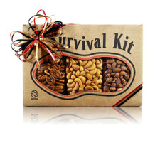 austiNuts Survival Kit - Ultimate Southwestern is Great for your next party!   Contains: Cayenne Cashews, Mesquite BBQ Pecans & Smoked Almonds
