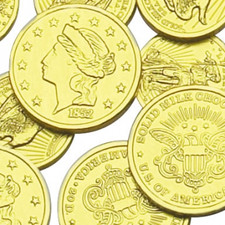 Make your next pirate party a hit with austiNuts Milk Chocolate Gold Coins! The kids will love it!   Price per 1lb.